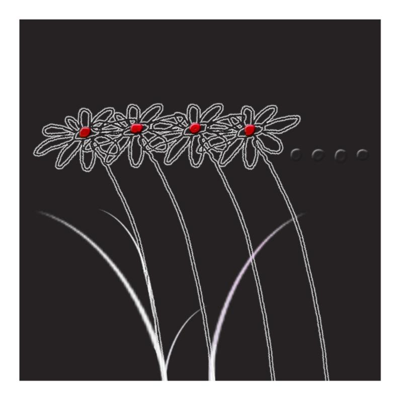 rouwkaart 4 bloempjes