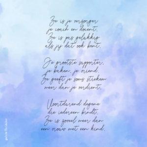 Condoleance Grote Waterverf M Met Gedicht Over Moeder 1
