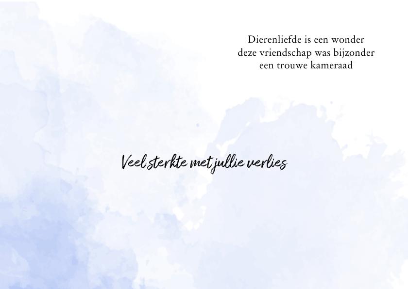 Condoleancekaart Voor Een Geliefd Huisdier Rouwkaarten