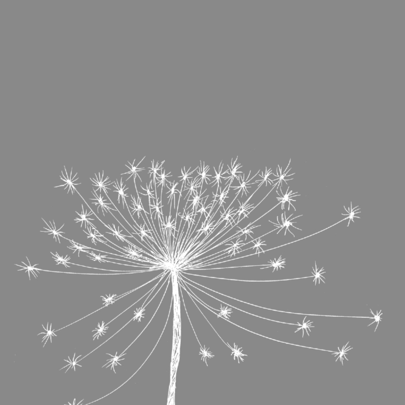 rouwkaart bloemen bloedsilhouet