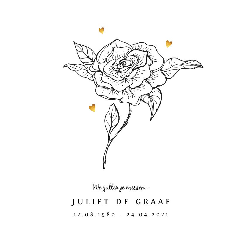 rouwkaarten met bloemen